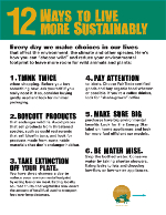 12 Ways to Live More Sustainably flyer